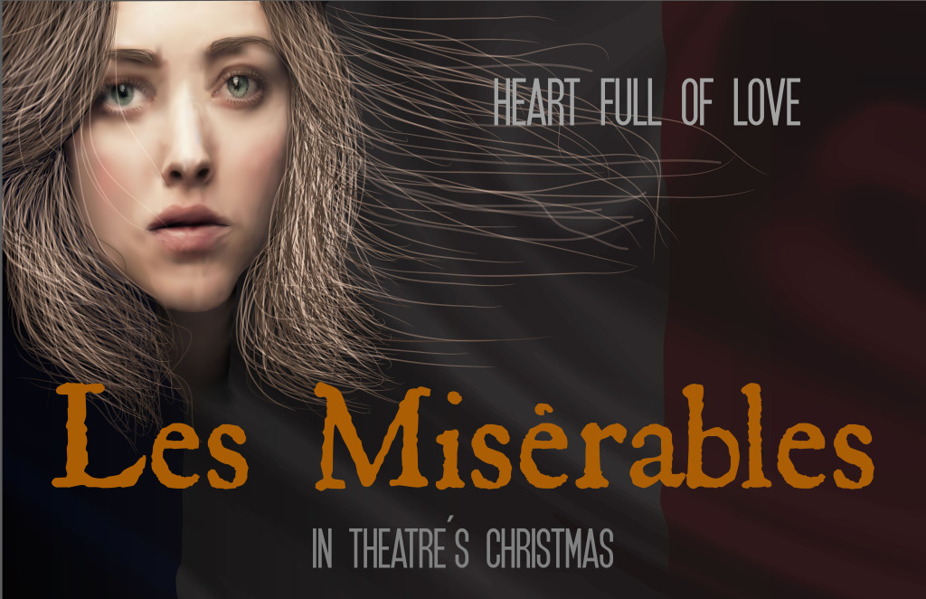"""Les Miserable Movie Poster"" Done with 100 % Illustrator Adobe Software. It is a Vector Mesh with each pixel of the eye colored individually. This project took me 36 hours straight with 3 hour nap."